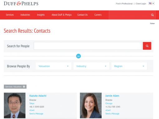 Duff & Phelps Custom Search